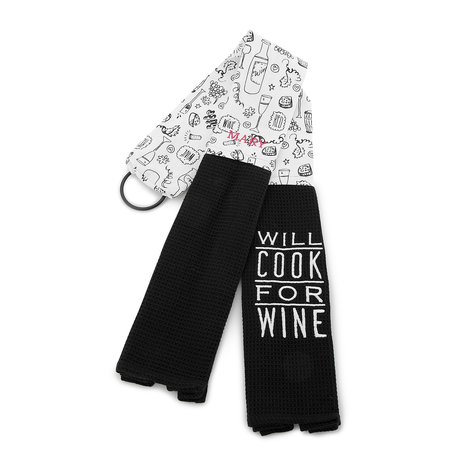 Will Cook For Wine Kitchen Towel Boa