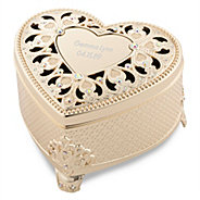 Personalized easter gifts for her at things remembered soft gold anastasia heart keepsake box negle Images