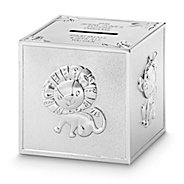 Personalized gifts for babies and newborns at things remembered silver safari animal block bank negle Image collections