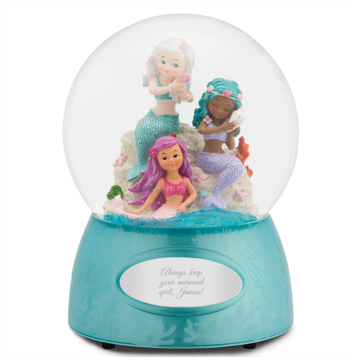 Mermaid Trio Snow Globe