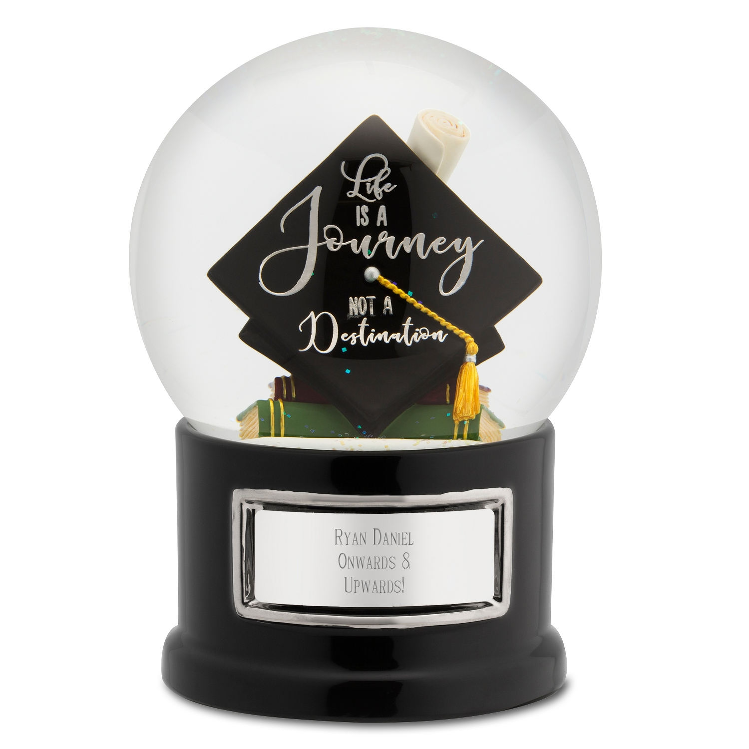 Graduate Class Of 2018 Life Is A Journey Hat Snow Globe