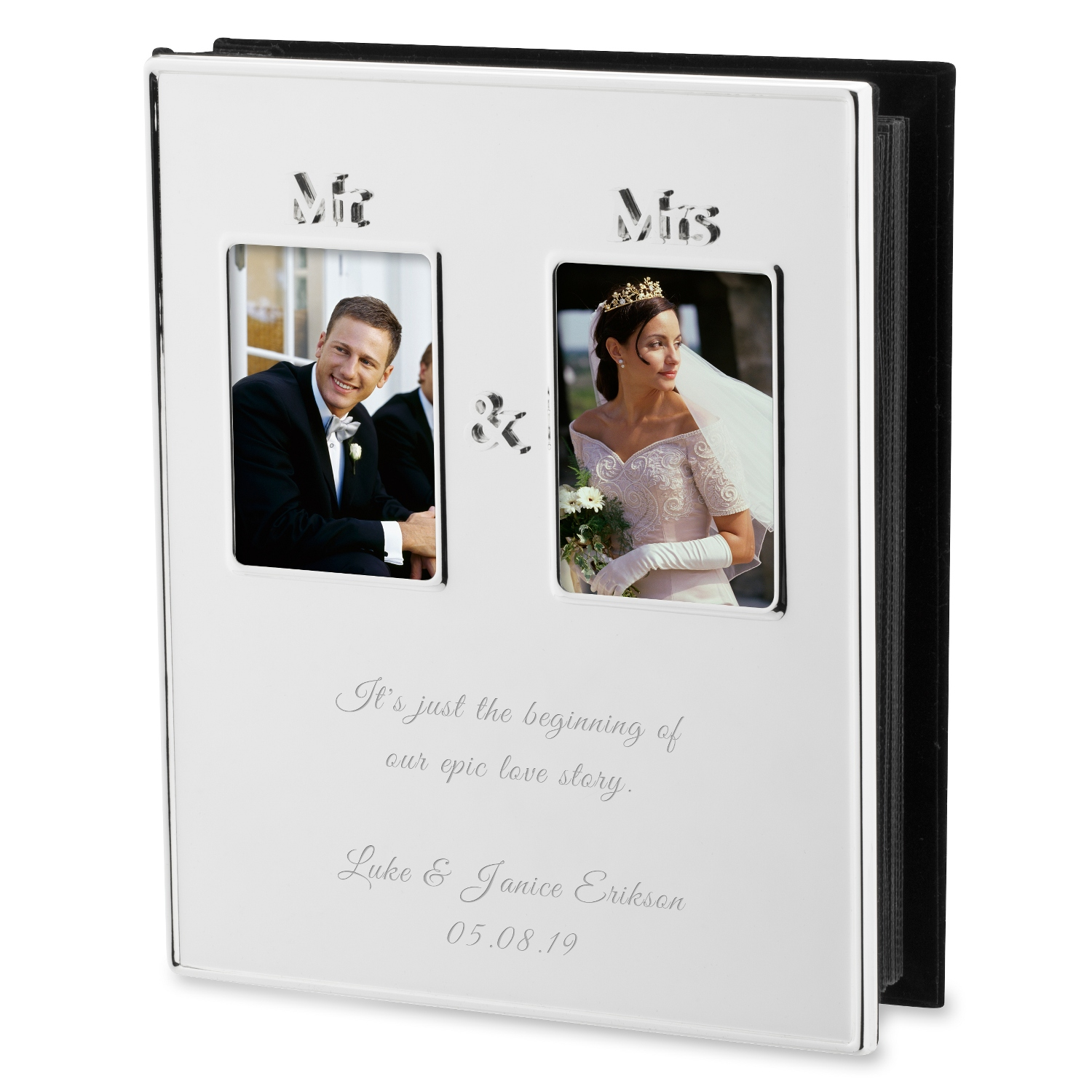 Mr And Mrs Silver Photo Album