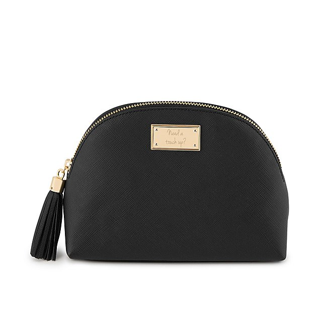 Black Leather Rounded...