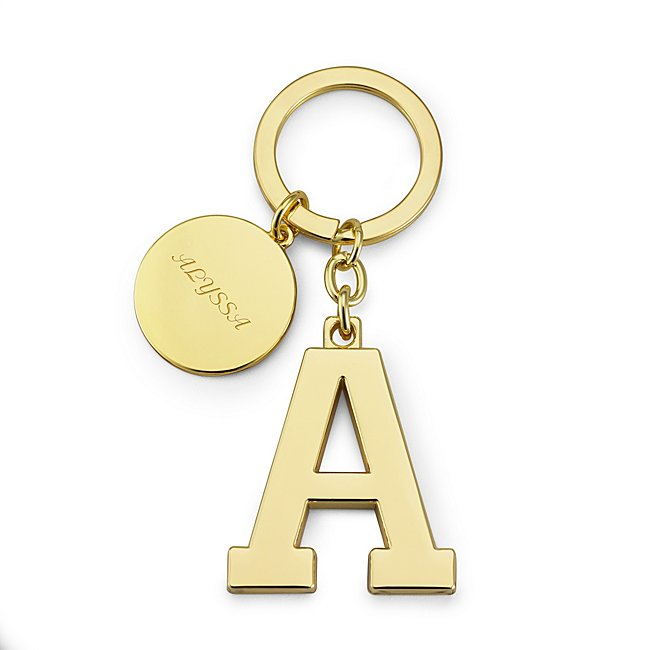 Gold Initial A Key Chain...