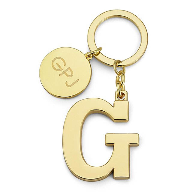 Gold Initial G Key Chain...