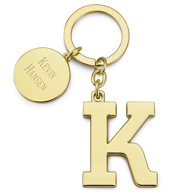 Gold Initial K Key Chain...