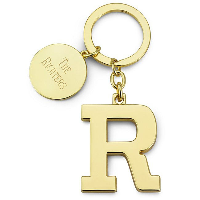 Gold Initial R Key Chain...
