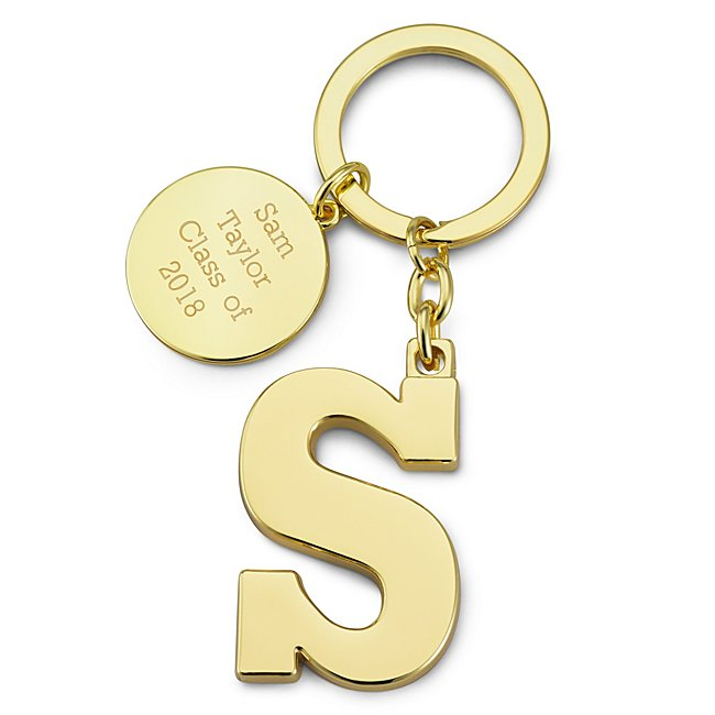 Gold Initial S Key Chain...