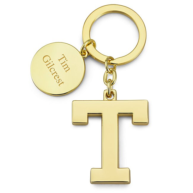 Gold Initial T Key Chain...