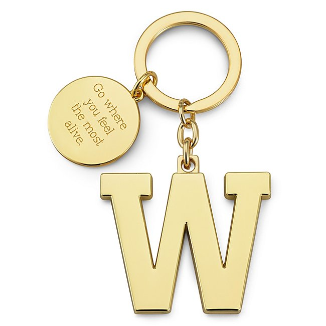 Gold Initial W Key Chain...