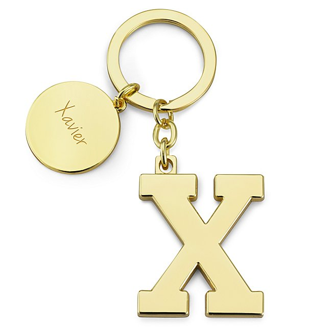 Gold Initial X Key Chain...