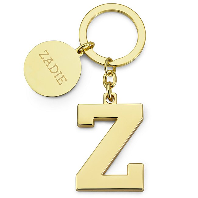 Gold Initial Z Key Chain...