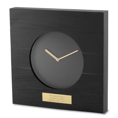 Black Minimalist Clock