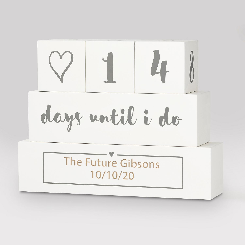 I Do Wedding Countdown Blocks