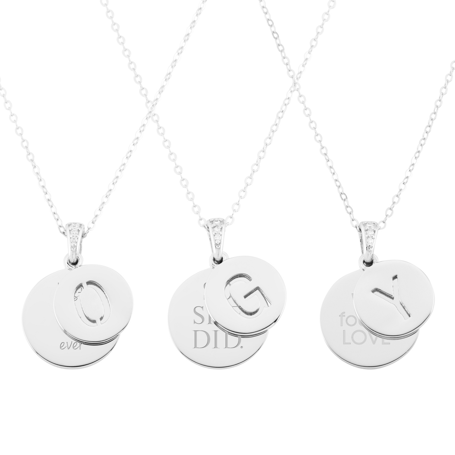 Sterling silver initial pendant necklace aloadofball Gallery