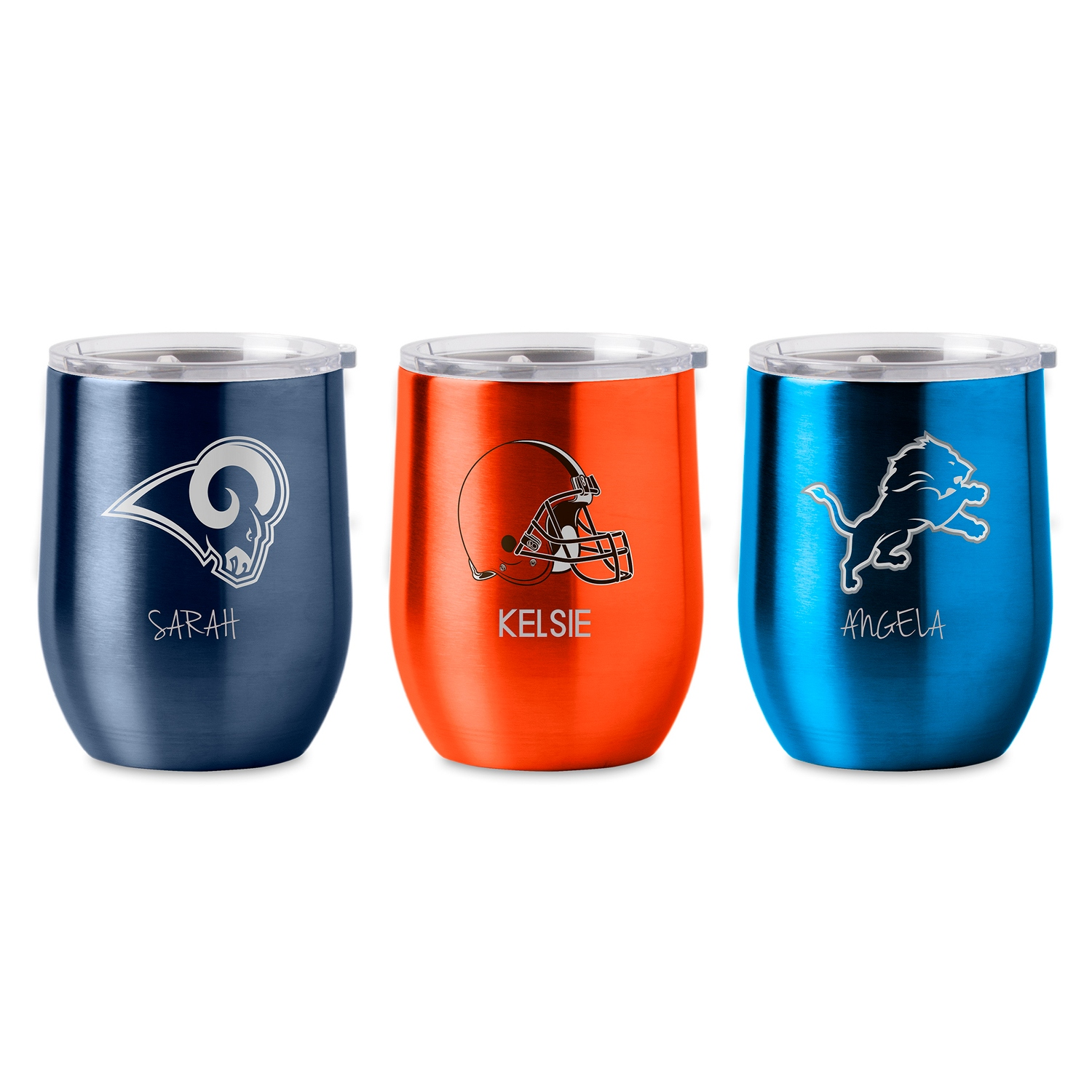Nfl Stainless Steel Stemless Wine Glass