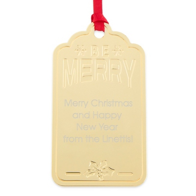 Gold Be Merry Gift Tag Ornament
