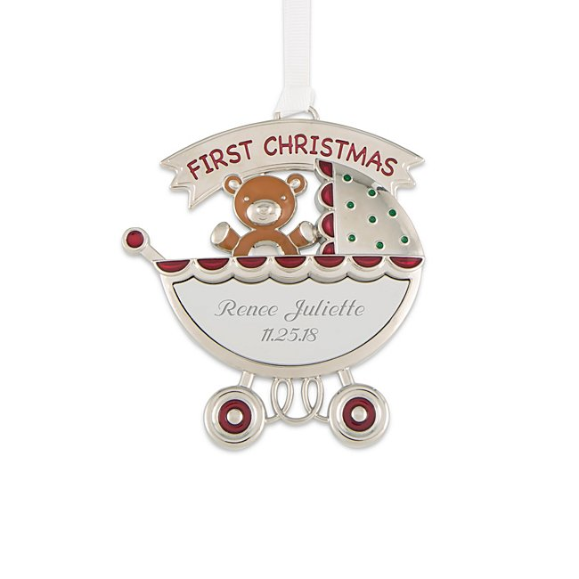 Teddy Baby Carriage Ornament...
