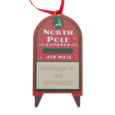 North Pole Express Mailbox Ornament