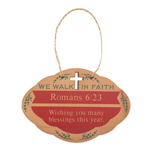 Faith Wood Ornament @...