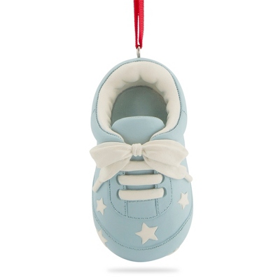 Blue Baby Bootie Ornament