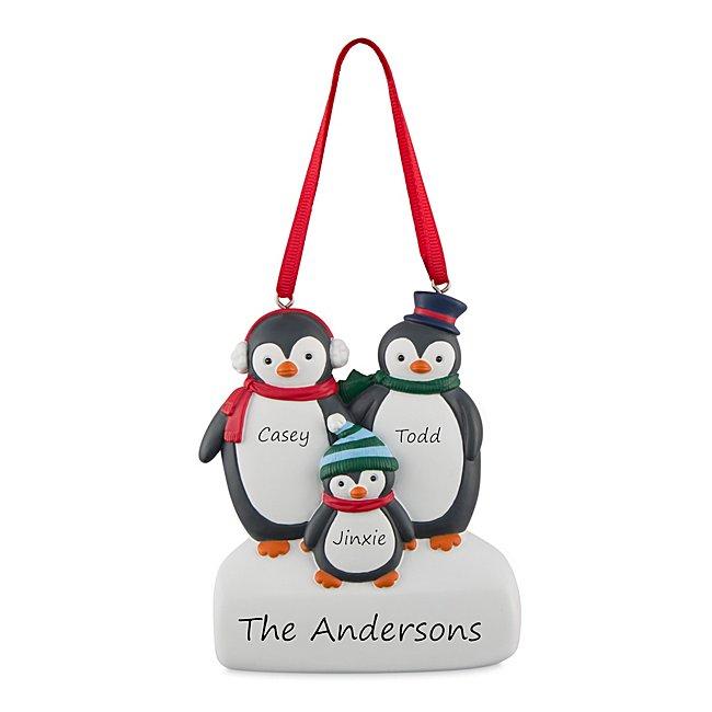 3 Penguin Family Ornament...