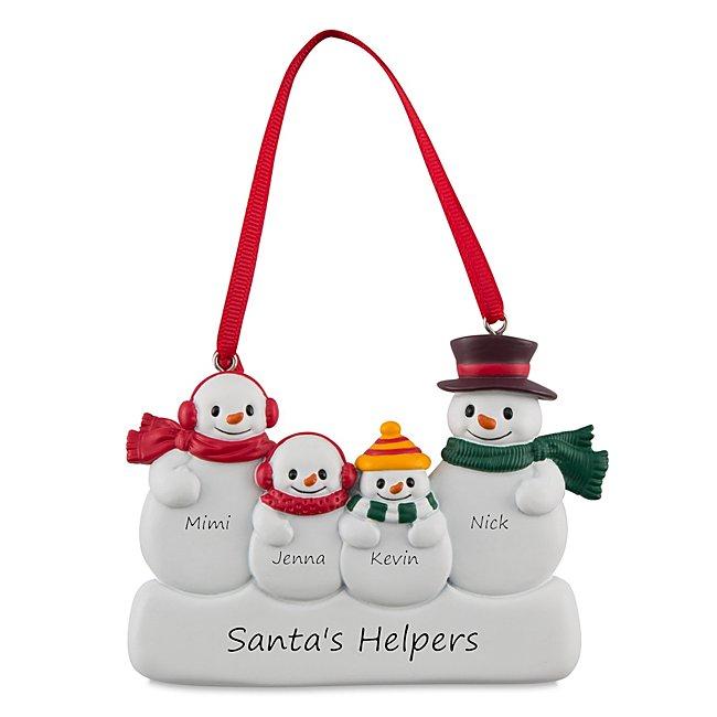 4 Snowman Family Ornament...