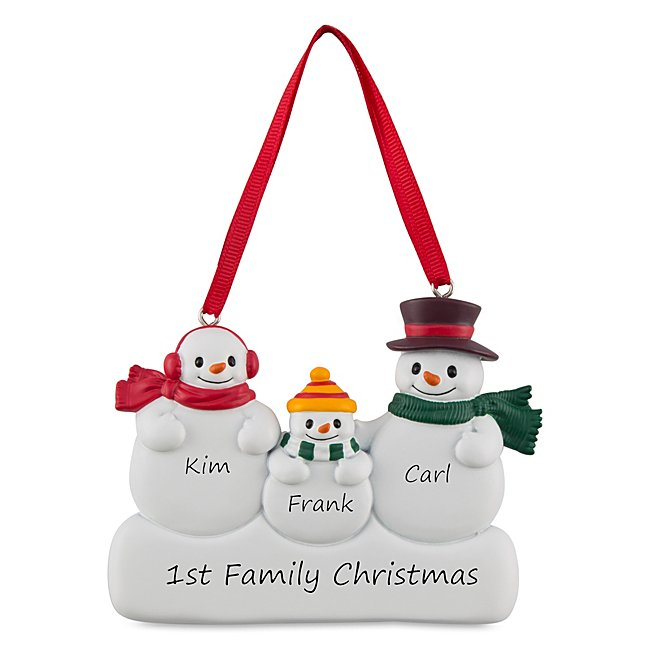 3 Snowman Family Ornament...