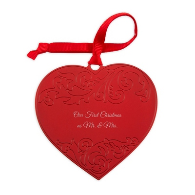 Red Embellished Heart Ornament