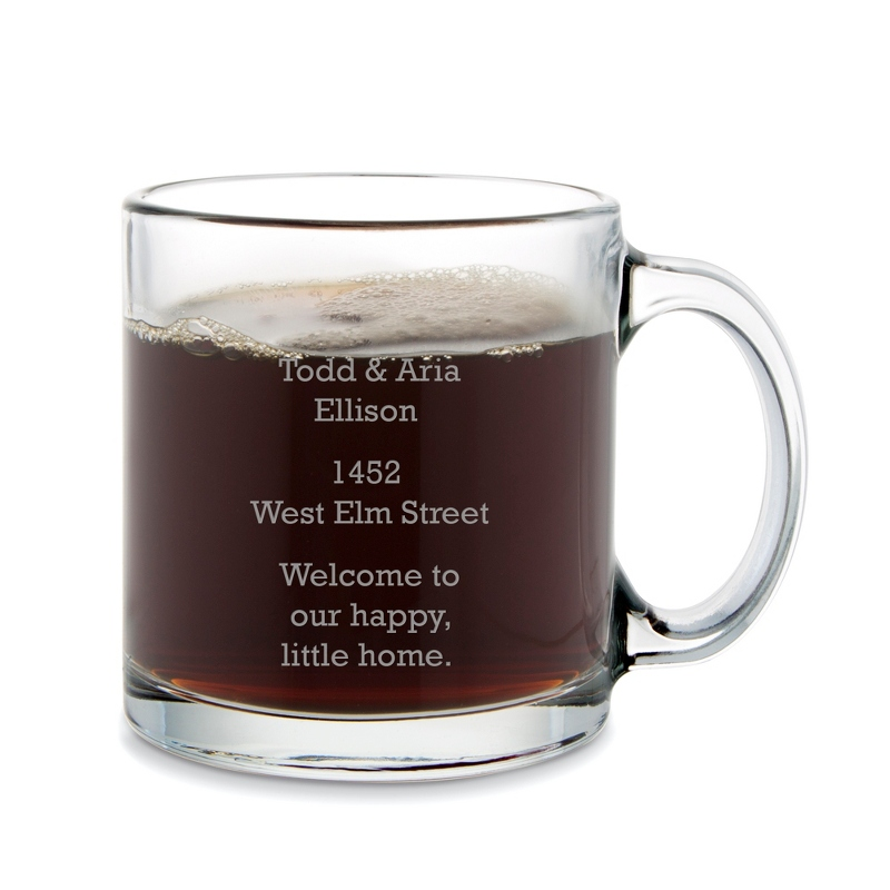 13 OZ Glass Coffee Mug