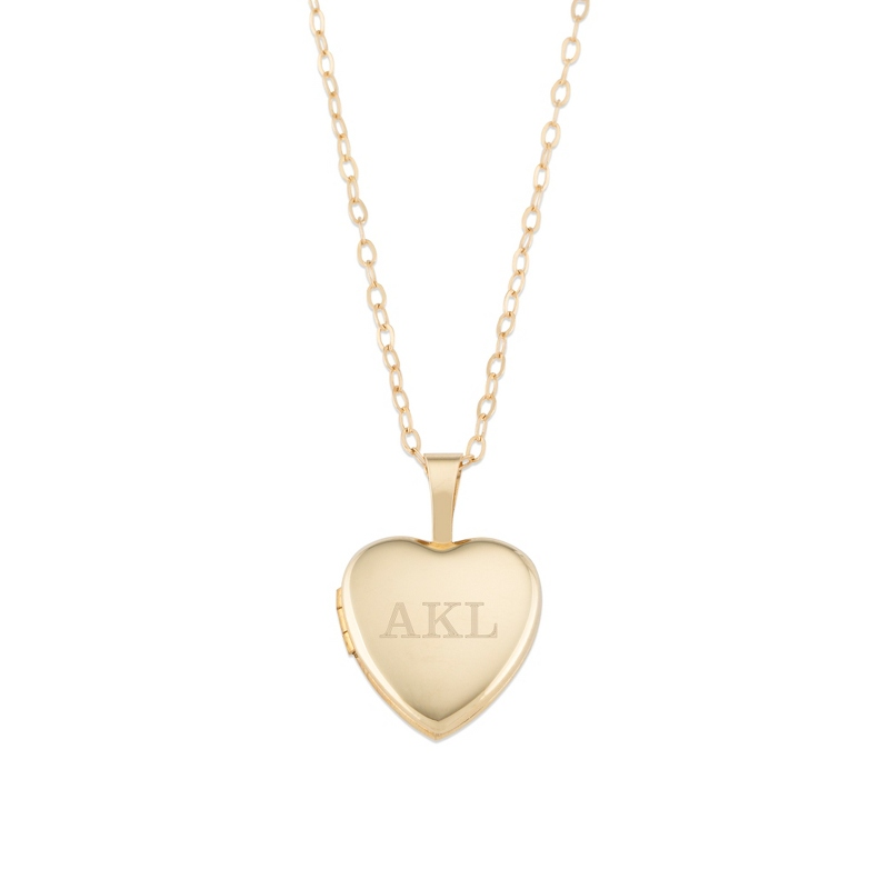 14K Gold 12mm Girls' Heart Locket