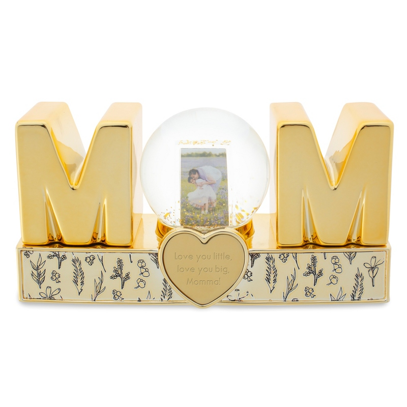 Gold Mom Musical Snow Globe