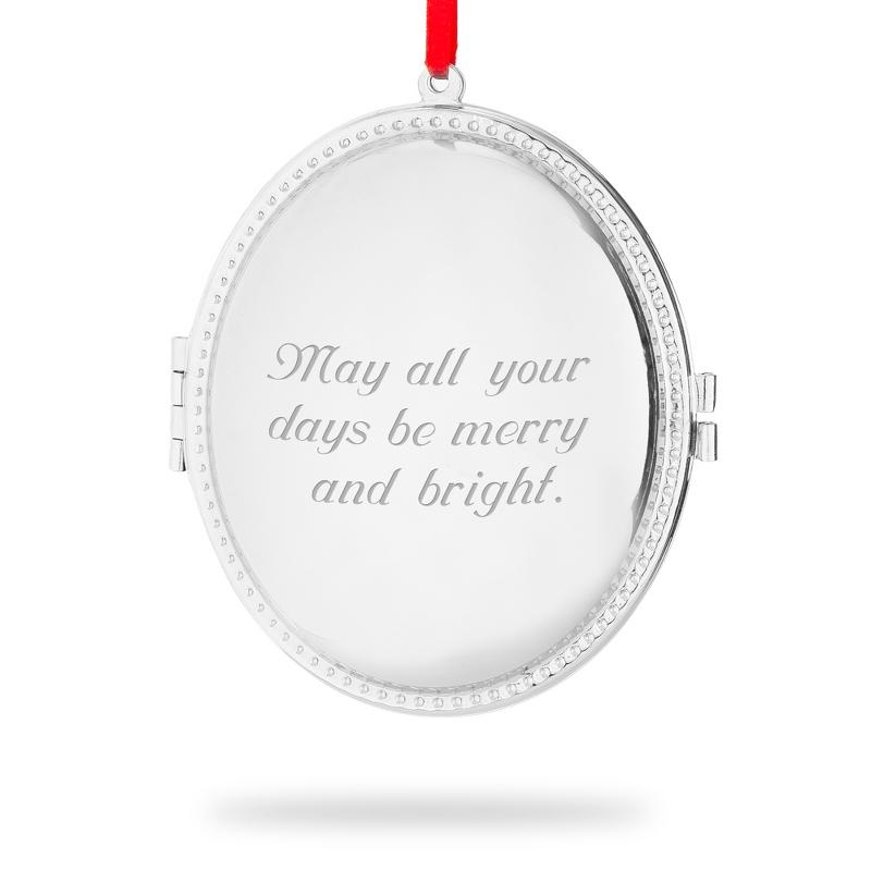 Oval Locket Christmas Ornament
