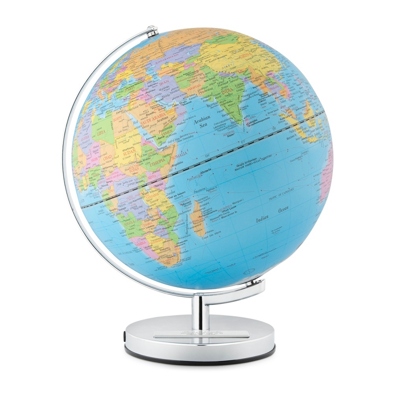 Engraved Wild and Wolf 10 Inch Classic Light Up Globe