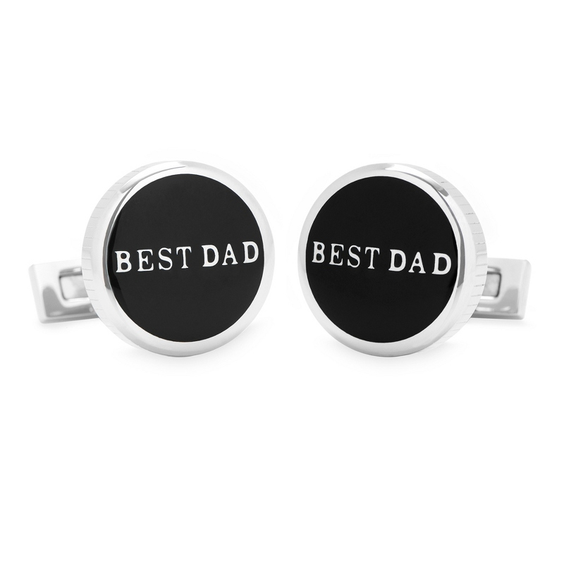 Best Dad Stainless Steel Cuff Links