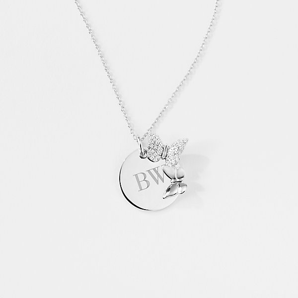 Floating Locket Necklace Four Best Friends Sterling Silver Mothers Necklace Birthstones Butterfly Jewelry 4 Best Friend Necklace