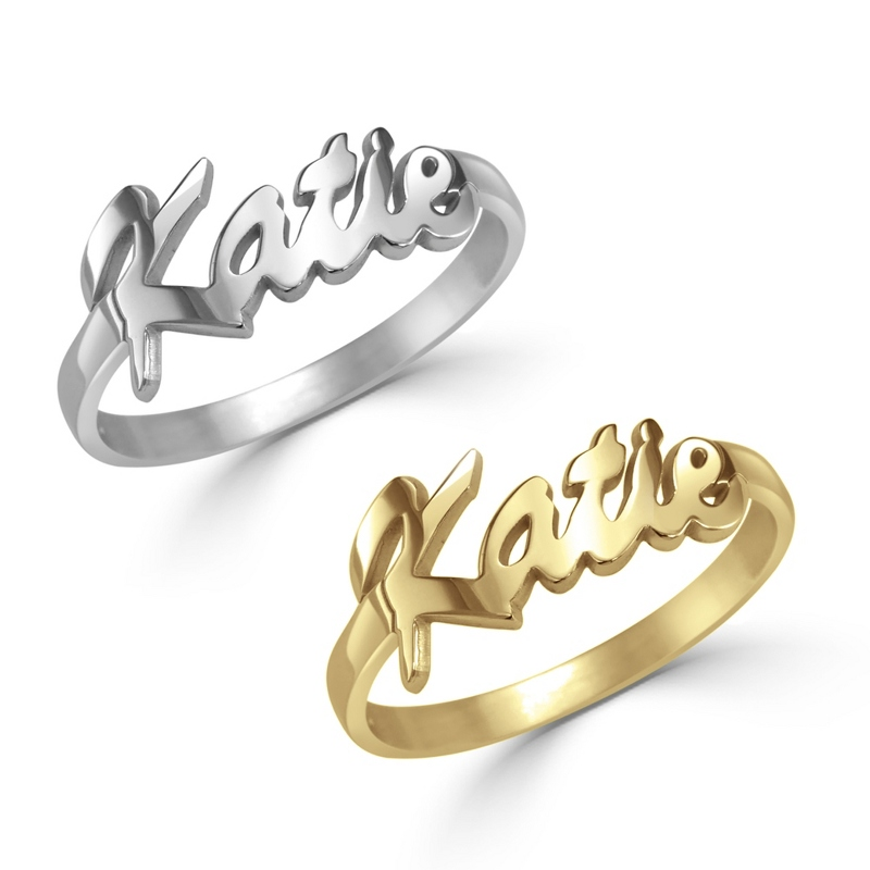 Alison and Ivy Sterling Silver Name Ring