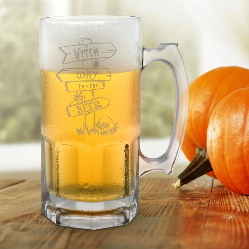 Witch Way Halloween Beer Mug