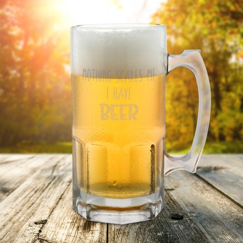 Nothing Scares Me Halloween Beer Mug
