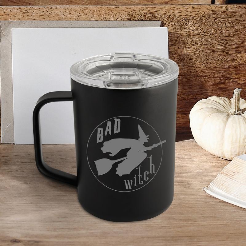 Bad Witch Corkcicle Matte Black Halloween Mug
