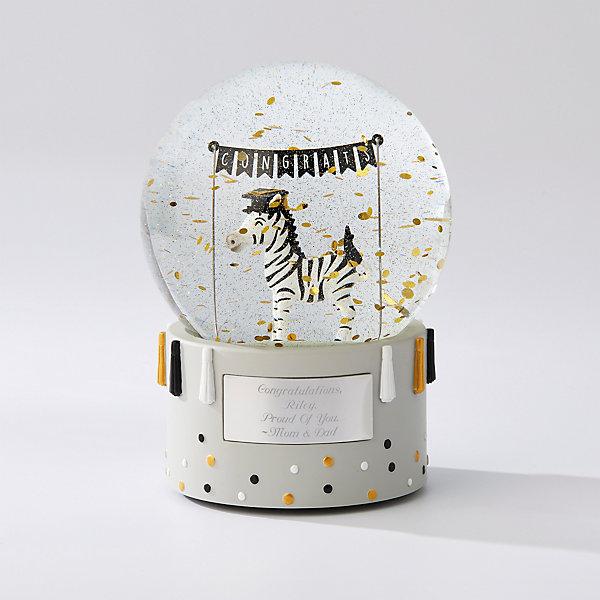 Grad Zebra Personalized Snow Globe