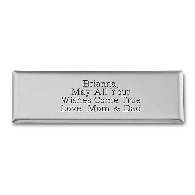 Add this handsome nickel silver plate to any of our items to personalize your gift. You can include names, dates, even a short sentiment.