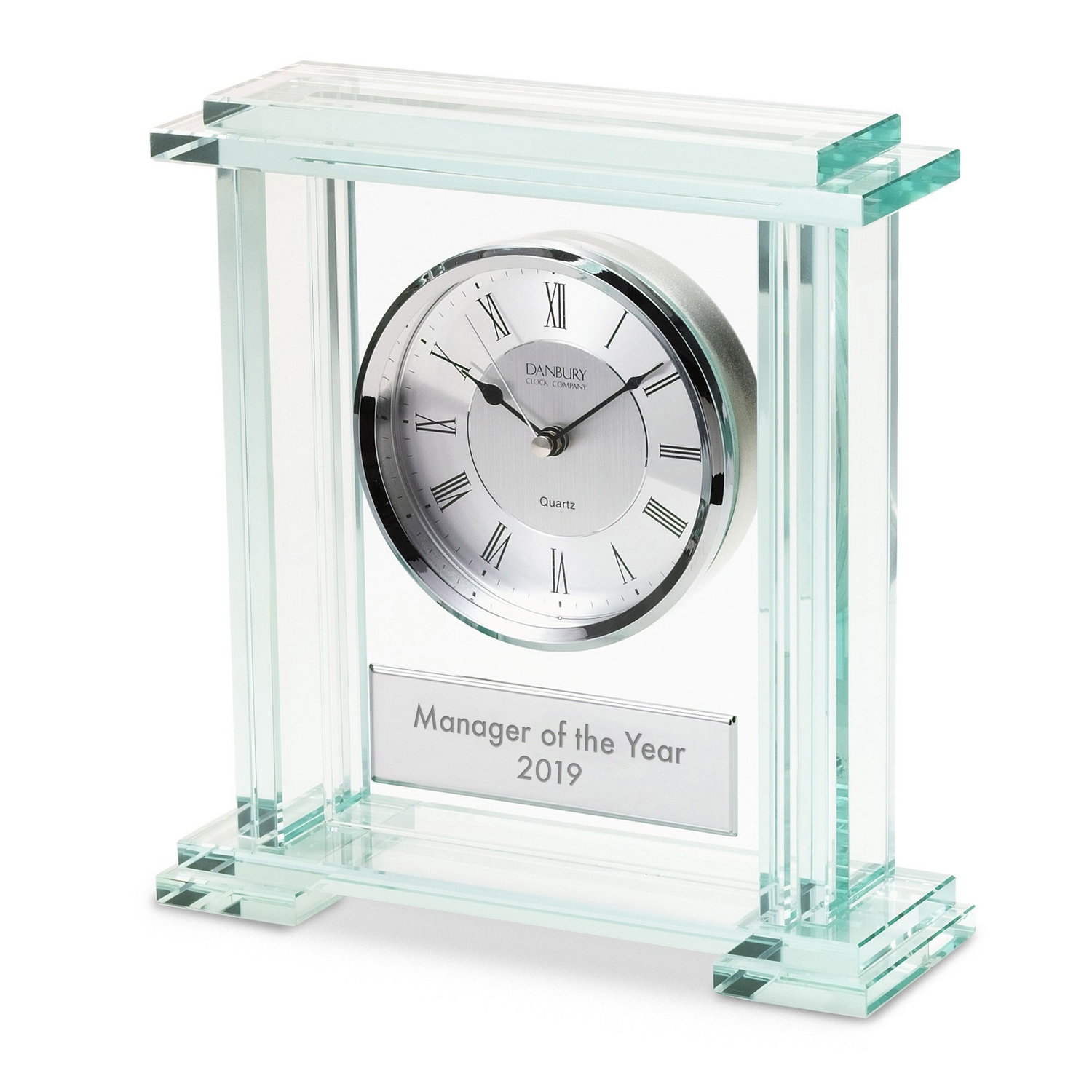 Personalized business clocks at things remembered glass block clock jeuxipadfo Images