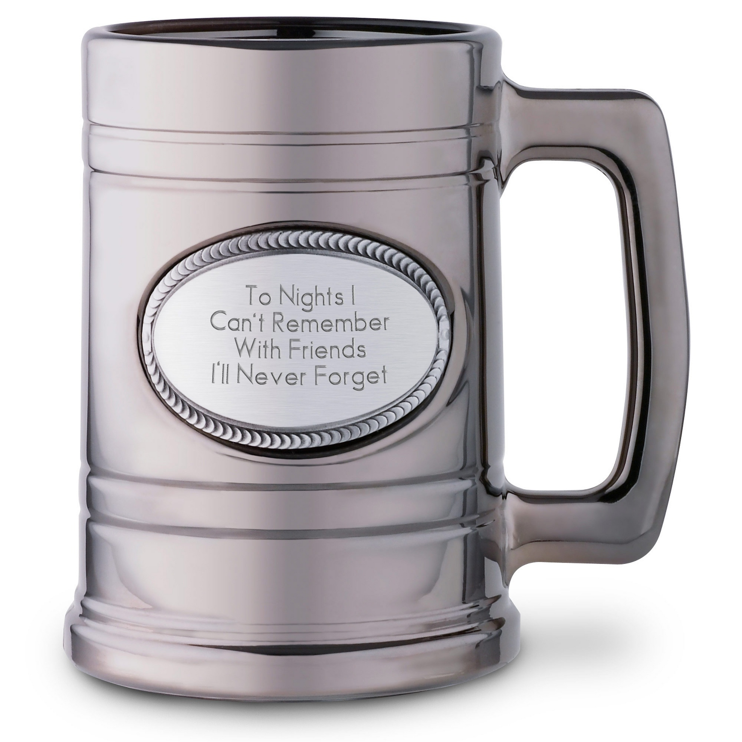 Personalized coffee mugs raleigh nc - Metallic Beer Mug