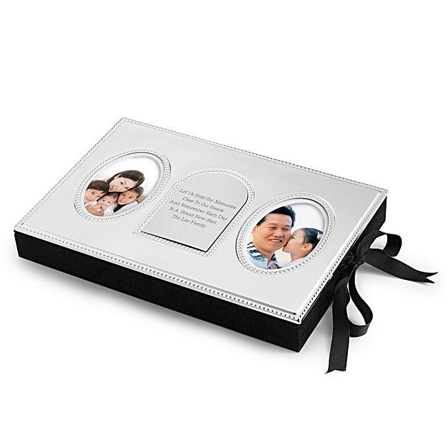 Personalized Beaded Photo Storage Box