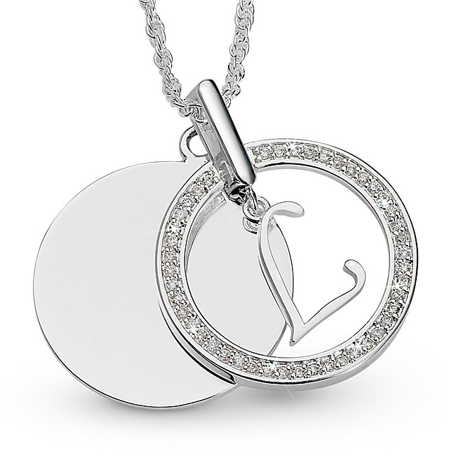 Initial L Swing Necklace,...