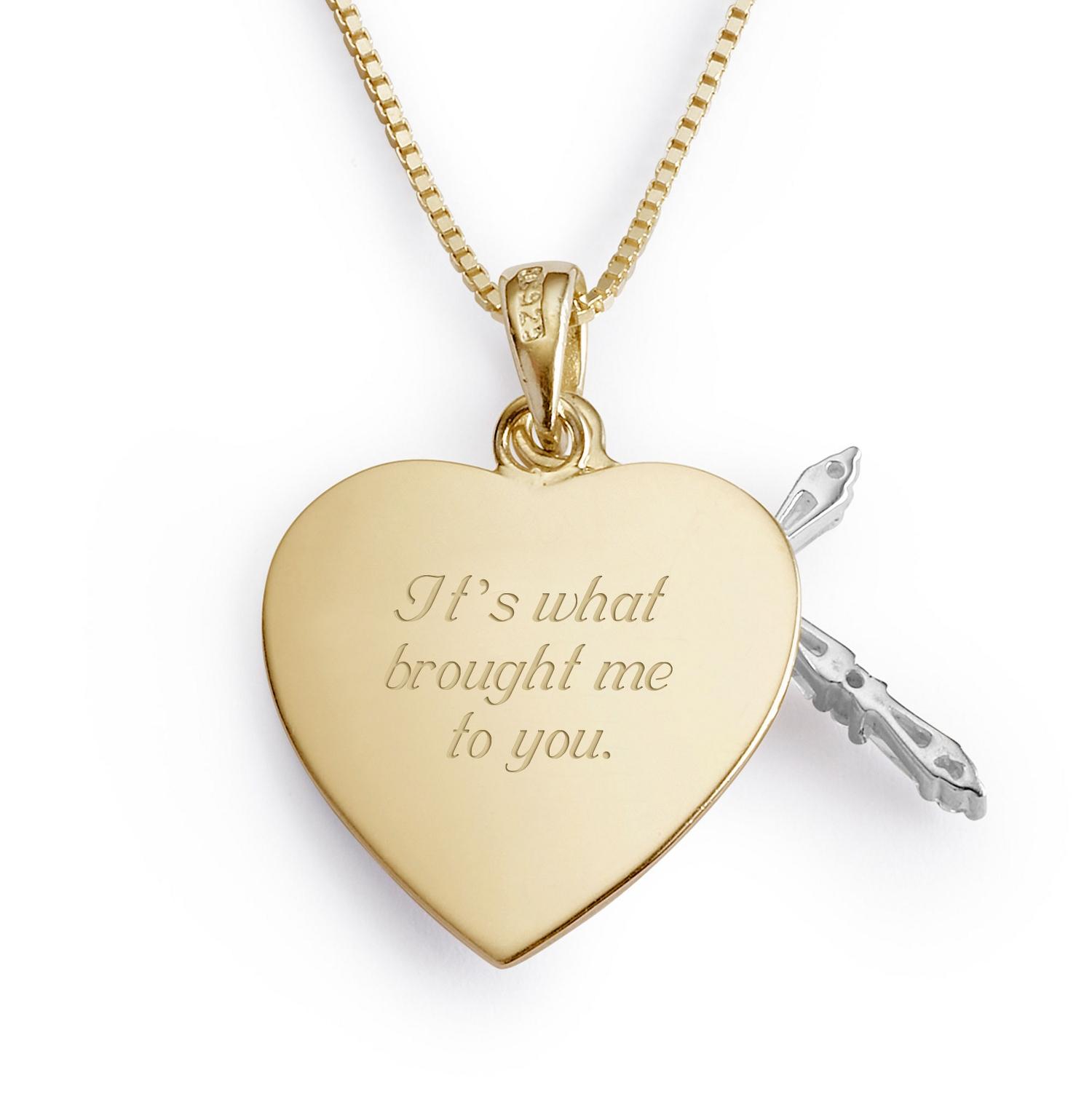 14K Gold Sterling Crystal Cross Necklace