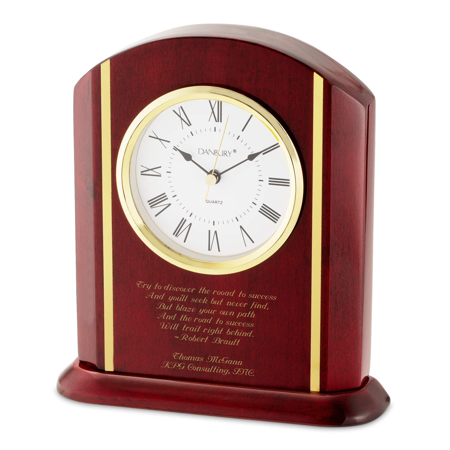 Personalized clocks for the home at things remembered high gloss mahogany clock jeuxipadfo Images