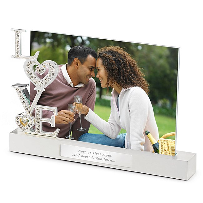 Personalized Love Bling Float Frame