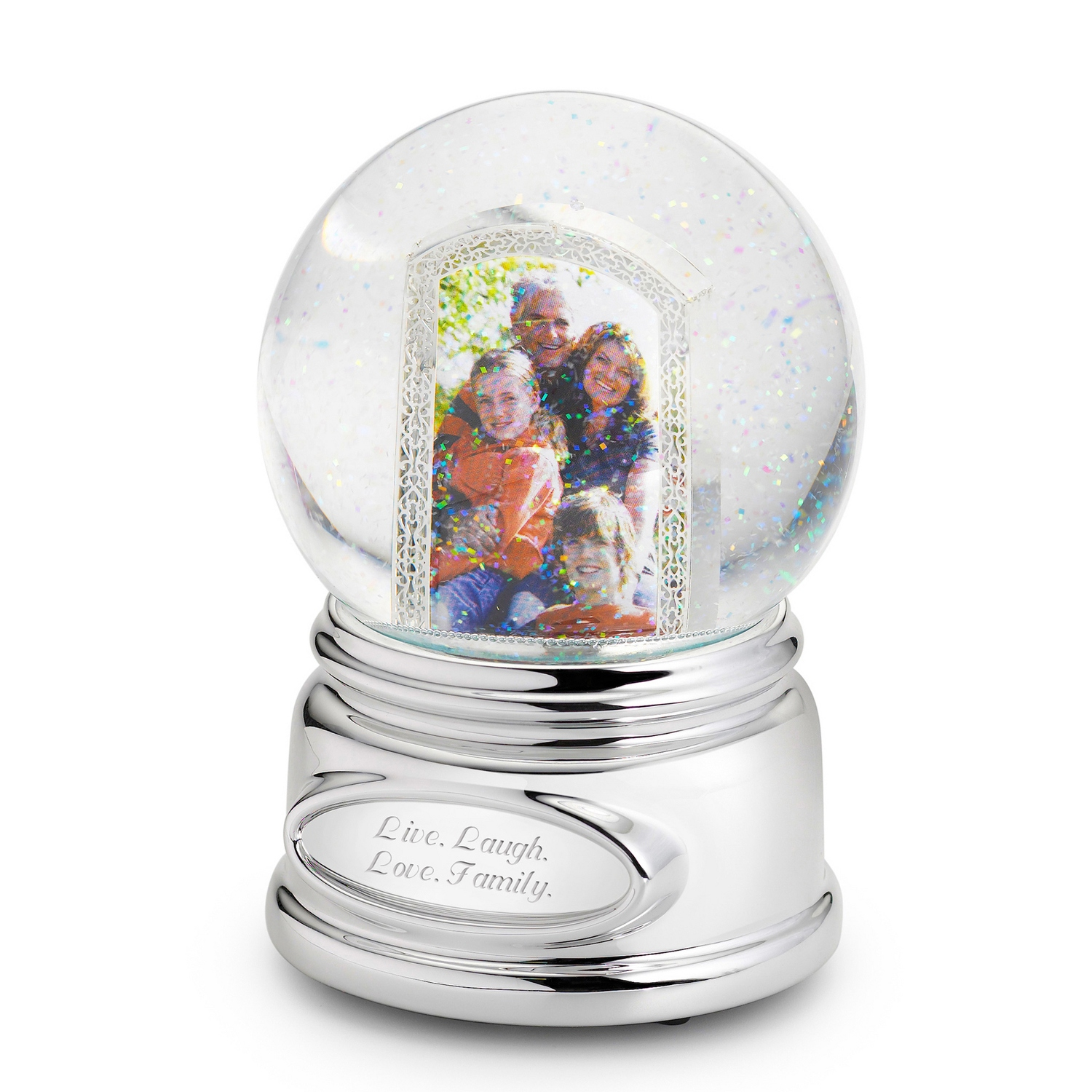 Picture Perfect Photo Musical Snow Globe